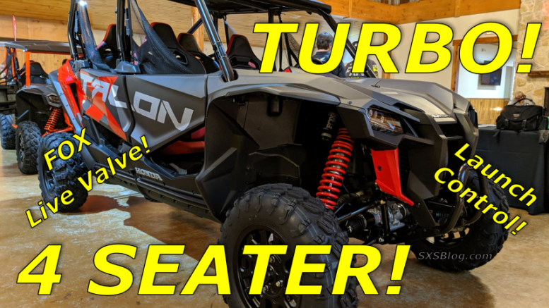 2020 Honda Talon Turbo Amp 4 Seater First Look